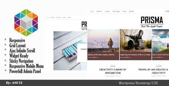 Prisma WordPress Theme free download