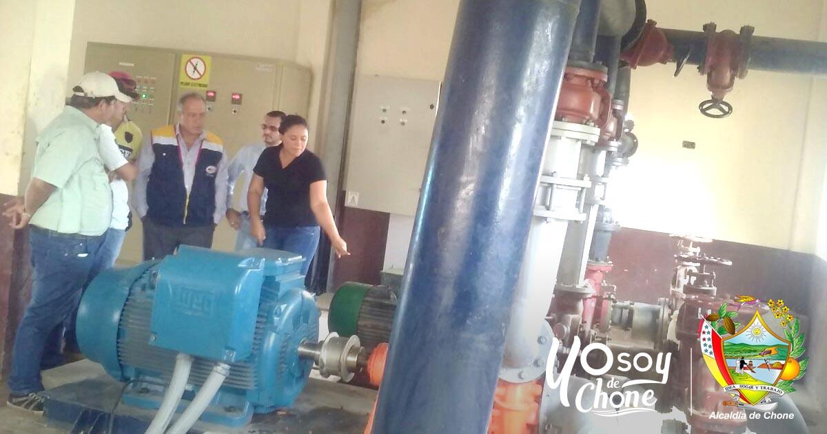 Instalan bomba de impulsión del agua hacia cisternas en el cerro Guayas