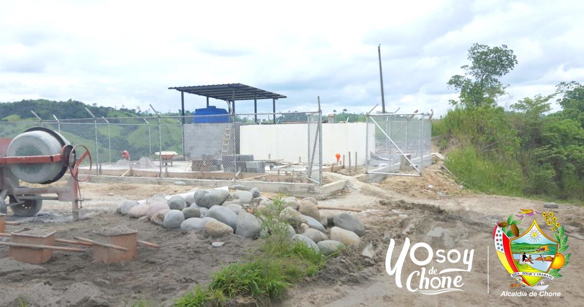 En Chibunga continúan los trabajos del sistema de agua potable