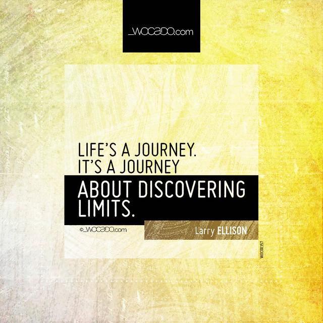 Life's a journey by WOCADO.com