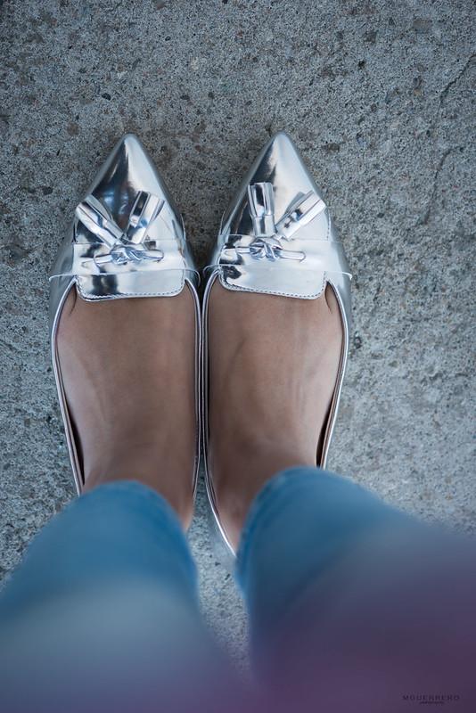 zara silver tassel flats 01