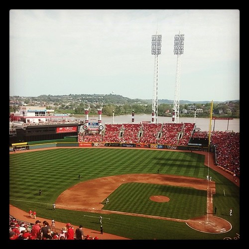@Reds versus @Brewers at GABP with @genmae5. Beautiful day for baseball! #MT4BWY