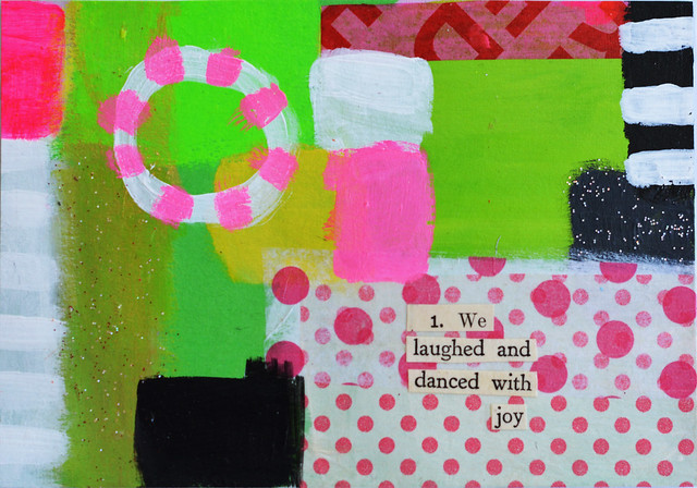 DIY Postcard: We laughed and danced with joy