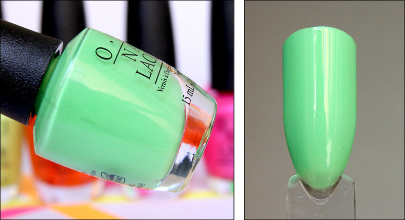 OPI you are so outta lime! swatch