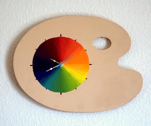 Paint Palette Clock