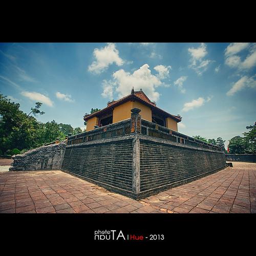 building landscape tomb vietnam hue