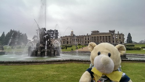 Phil and the Perseus and Andromeda Fountain at Witley Court