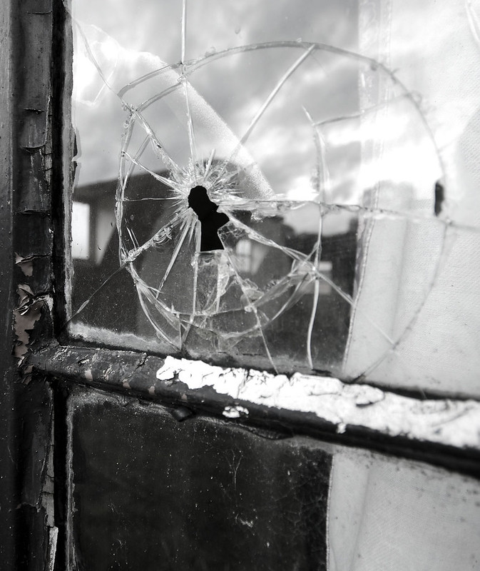 Hole in Window