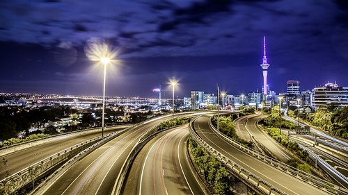 city motorway auckland spaghetti hopetounbridge junctiom
