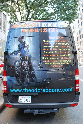 Kid Lawyer tour bus