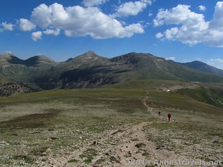 Looking back toward Independence Pass from the slopes of UN 12812, San Isabel National Forest and White River National Forest, Colorado