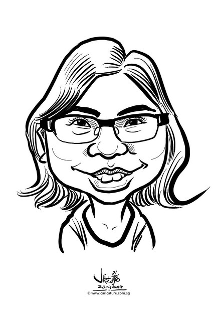 digital live caricature sketching for National Heart Centre Singapore -6