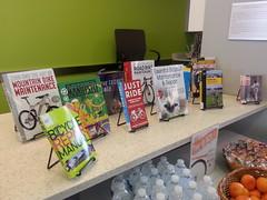 Bike books display