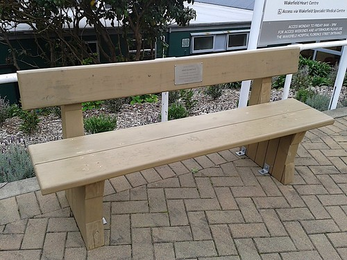 Bench at Wakefield Hospital