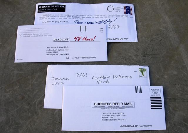 Jerome Corsi junk mail