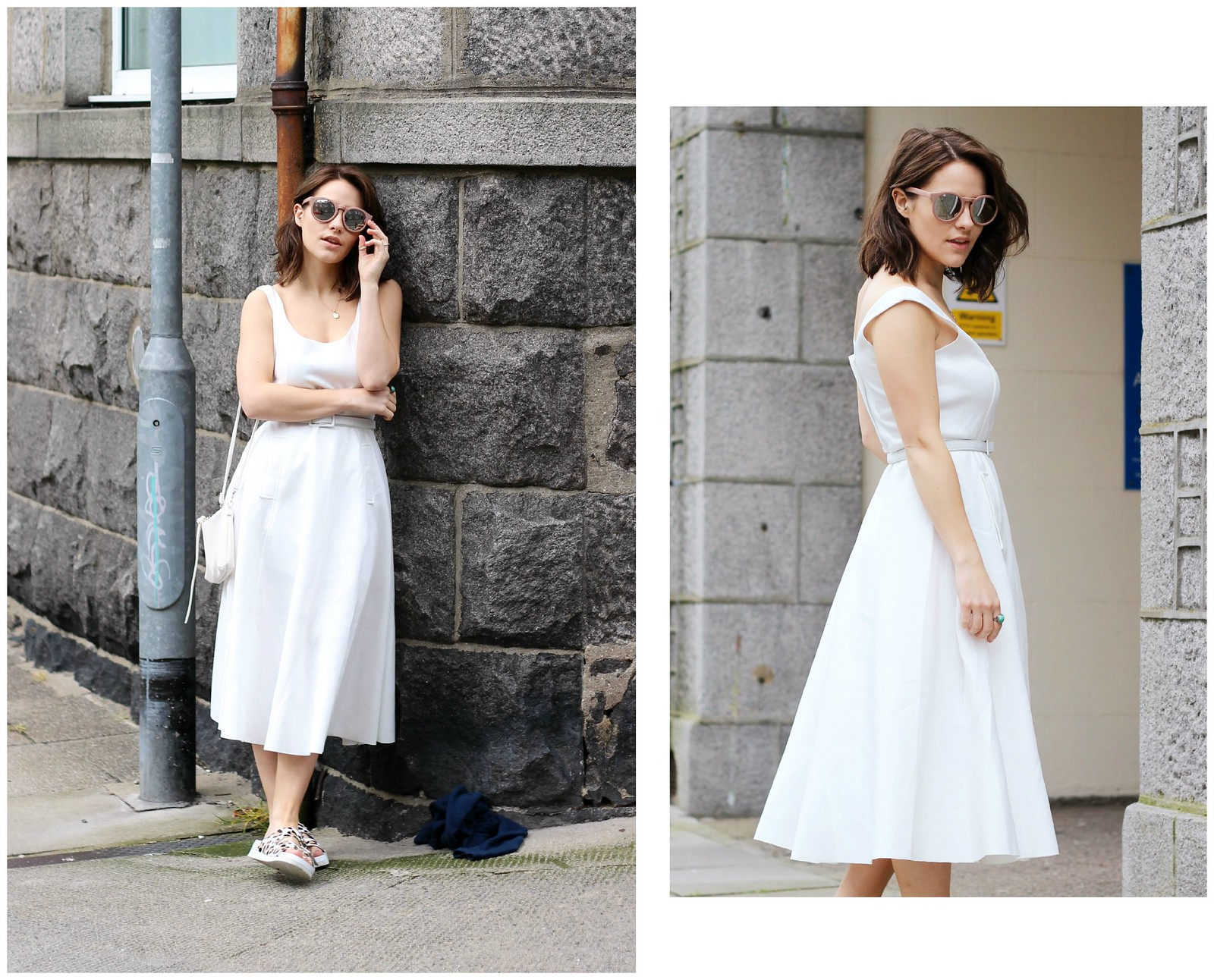 Choies white off shoulder midi dress 10