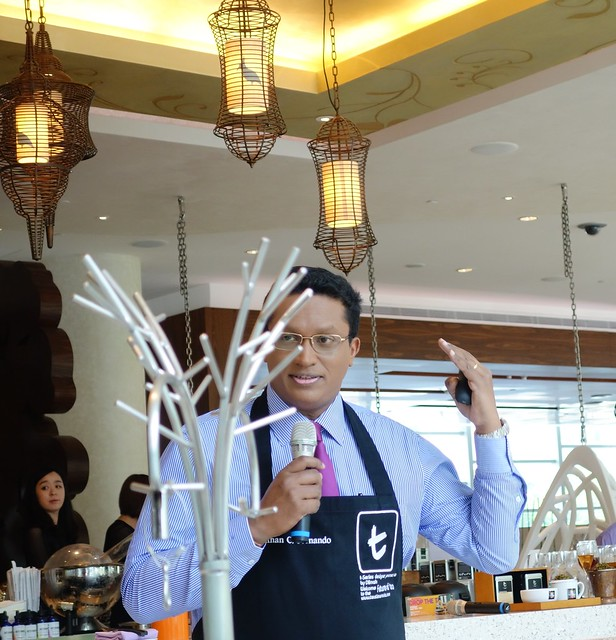 Dilhan Fernando, Director of Marketing at Dilmah - WooBar at W Singapore Sentosa Cove