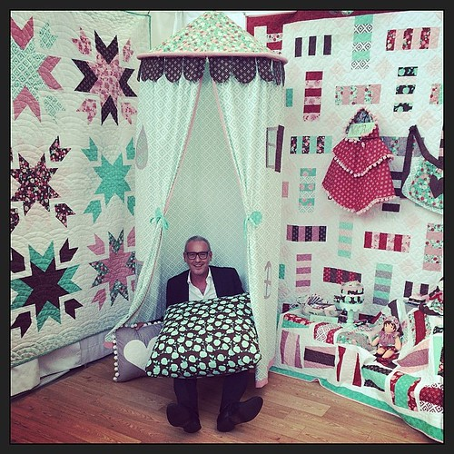 Making himself at home. @alexveronelli. #aurifil