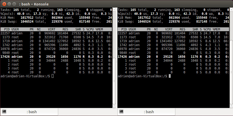 konsole | What is a good terminal emulator on Linux? If you
