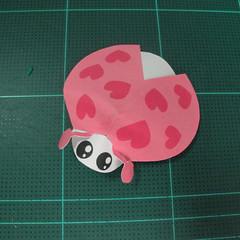 วิธีทำโมเดลกระดาษรูปเต่าทองแบบง่ายๆ (Easy Ladybug Papercraft Model) 010