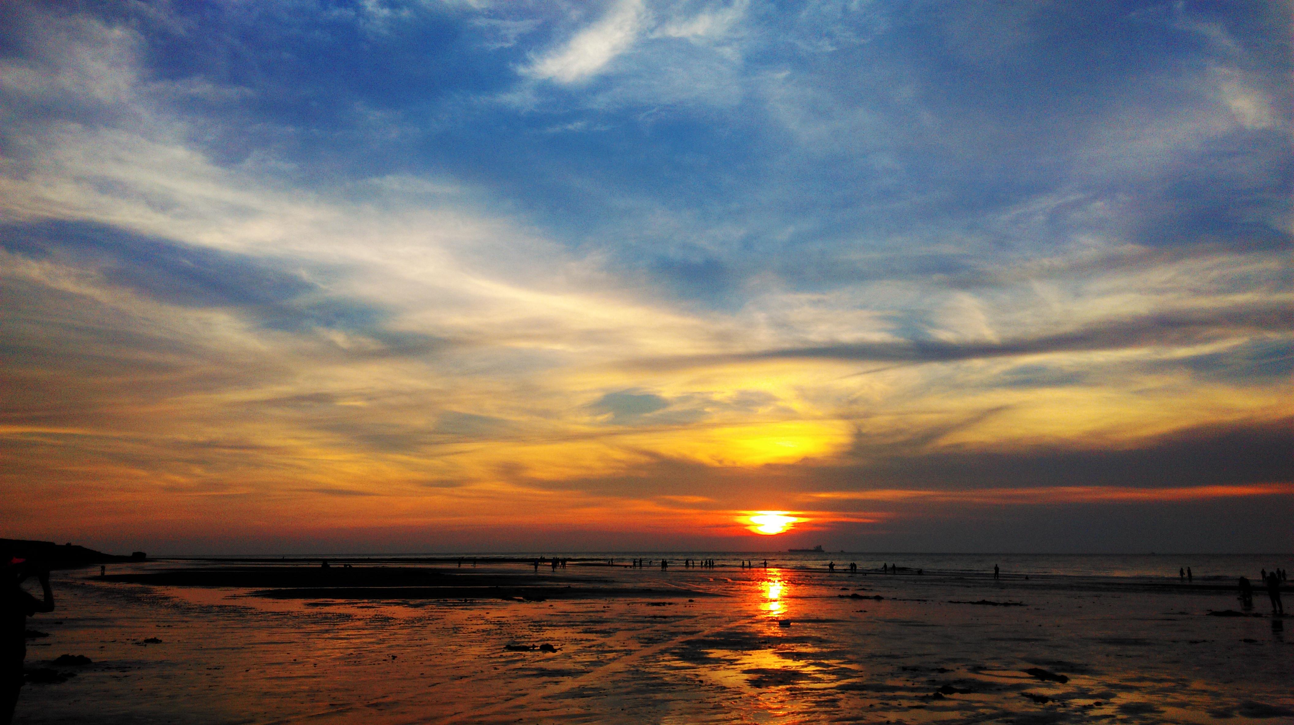 HTC816竹圍漁港夕陽
