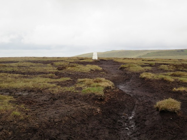 Brown Knoll trig point, Peak District