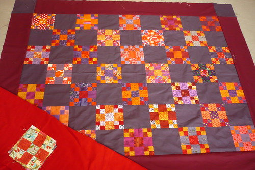 finally a complete border + a red flannel and signature blocks for the back