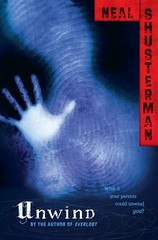 Unwind by Neil Shusterman book cover.