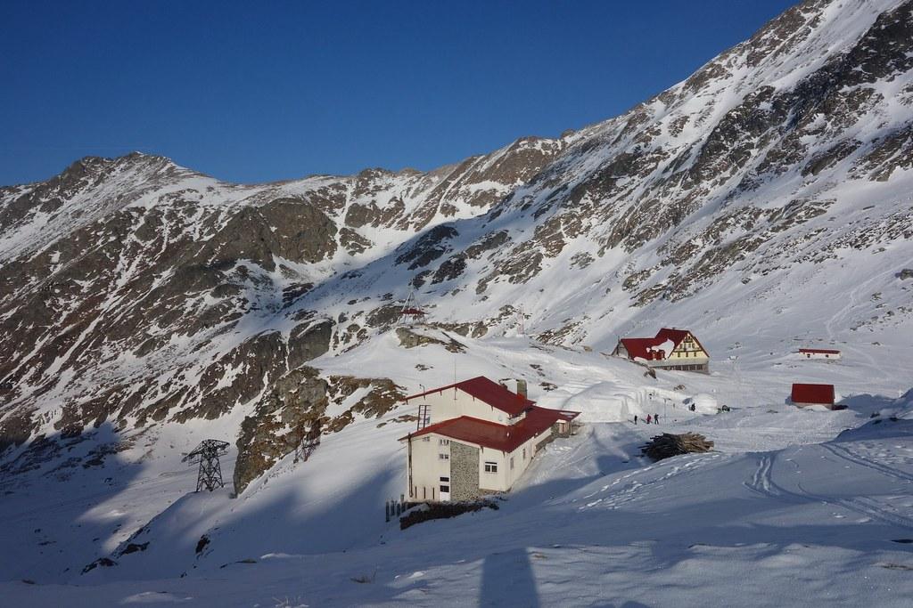 Transfagaras road or ice road