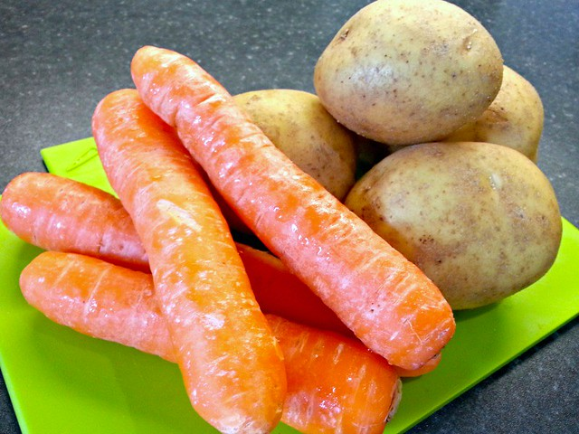 Carrots and Potatoes, sneak fruit and vegetables into food