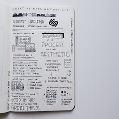 """Friday's @newyork_cm talk with @acasalena was definitely a new favorite - """"Sometimes you have to throw away the GOOD THINGS to make room for the GREAT THINGS."""" #CMNYC #Creativemornings"""