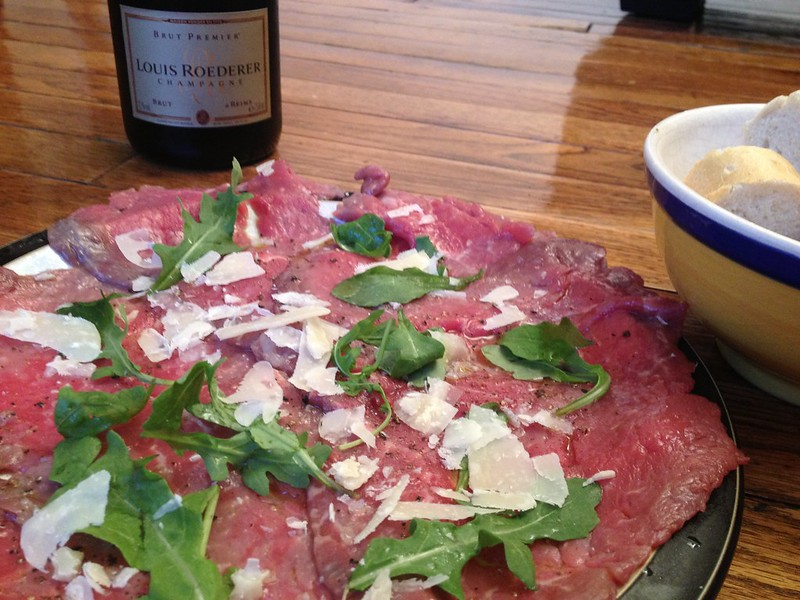 Beef Carpaccio :  Serve with Bread