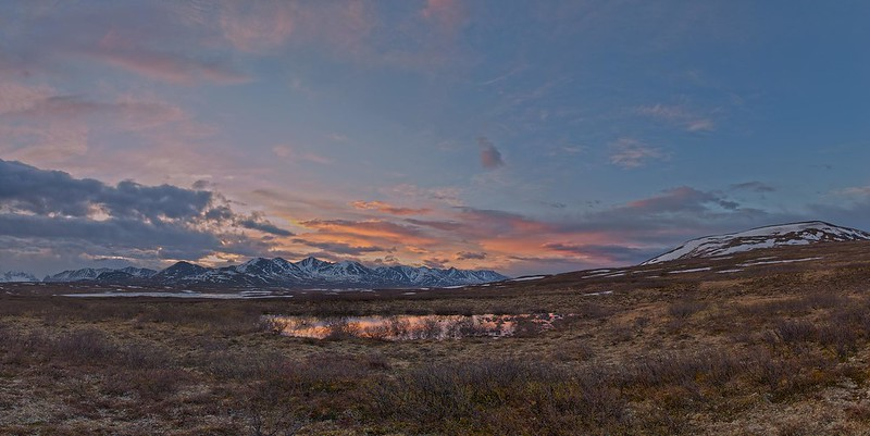 Sunrise Alaska Range - Denali Highway