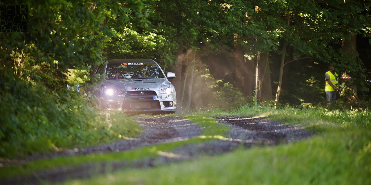 Rally Orlické hory 2014, Opočno, ČMPR, Mitsubishi Lancer Evo X,