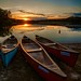 Canoes at Rest by djwtwo