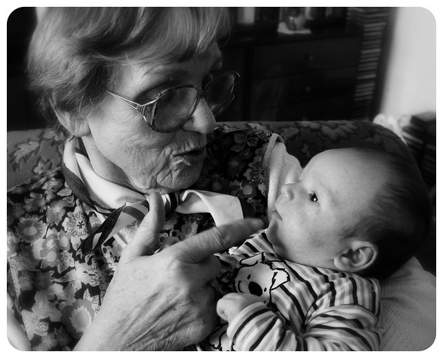 Oma and her great grandson