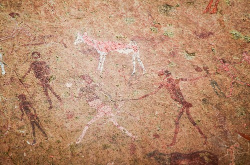 White Lady paintings in Brandberg, Namibia