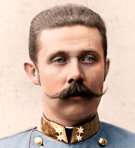 A portrait of Franz Ferdinand, photo taken by Carl Pietzner