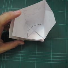การพับกระดาษเป้นถุงของขวัญแบบไม่ใช้กาว (Origami Gift Bag) 009