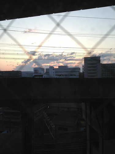 bridge japan train sunrise concrete hotel inn tracks overpass business bullet sendai miyagi tohoku shinkansen toyoko 2013