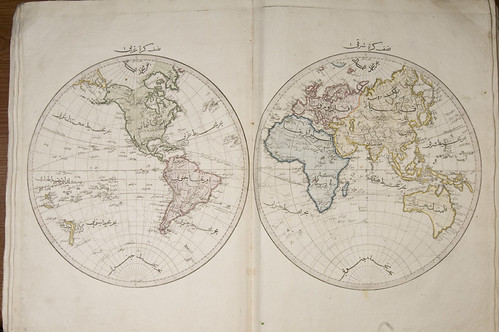World map from the collection of the National Library of Turkey