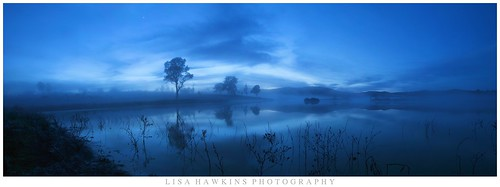 morning blue misty fog sunrise reflections ripley queensland ipswich