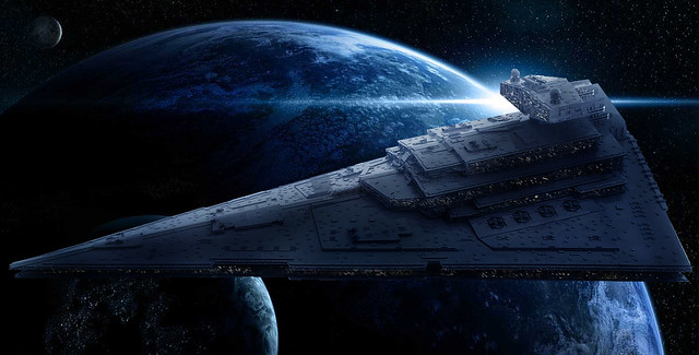 LEGO Star Destroyer - photo edit by Migalart