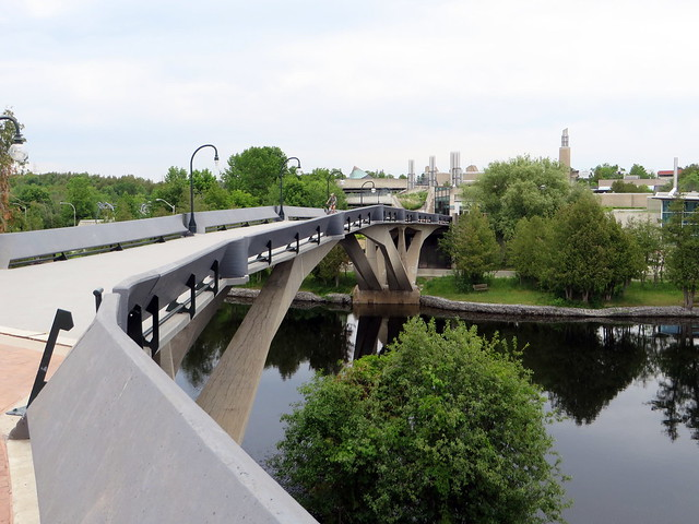 Trent University's bridge over the Otonabee River