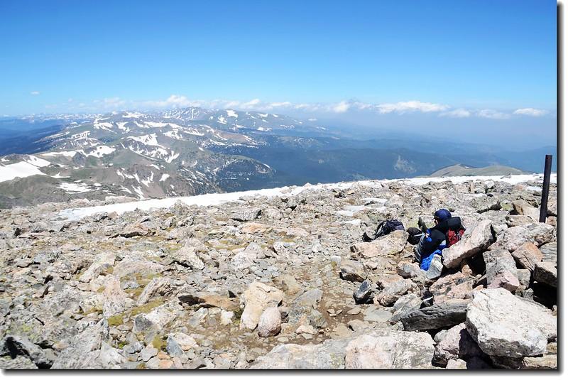 Jacob on James Peak's summit 2
