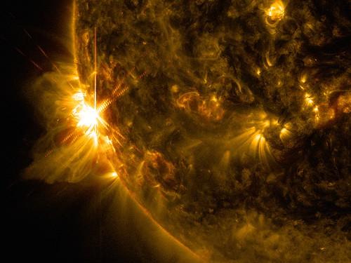 NASA's SDO Sees Solar Flares