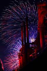 Fireworks at the Bethlehem Steel Stacks