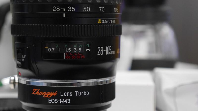ZhongYi Lens Turbo + EF 28-105