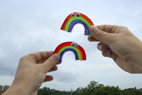 Double rainbow latergram