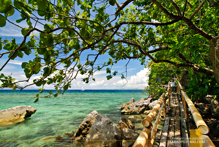 The Bridge to Lambingan Villa at Sangat Island Dive Resort in Coron